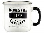 Ambition Kubek porcelanowy 510 ml Adventure Brave and Free