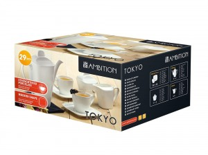 Ambition komplet kawowy 29-elementowy 220 ml Tokyo na 12 osób