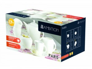 Ambition komplet kawowy 17-elementowy 190 ml Paris